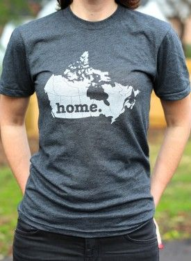 Canada Home T-shirt: The Canada Home T-shirt is a stylish way to show off your country pride, while also helping raise money for multiple sclerosis research. We use a high-quality American Apparel unisex shirt, and it will be one of the softest, most comfortable t-shirts you own. The shirt, and the screen print, has a vintage look that you're really going to like. Also has all 50 States + Australia, etc.