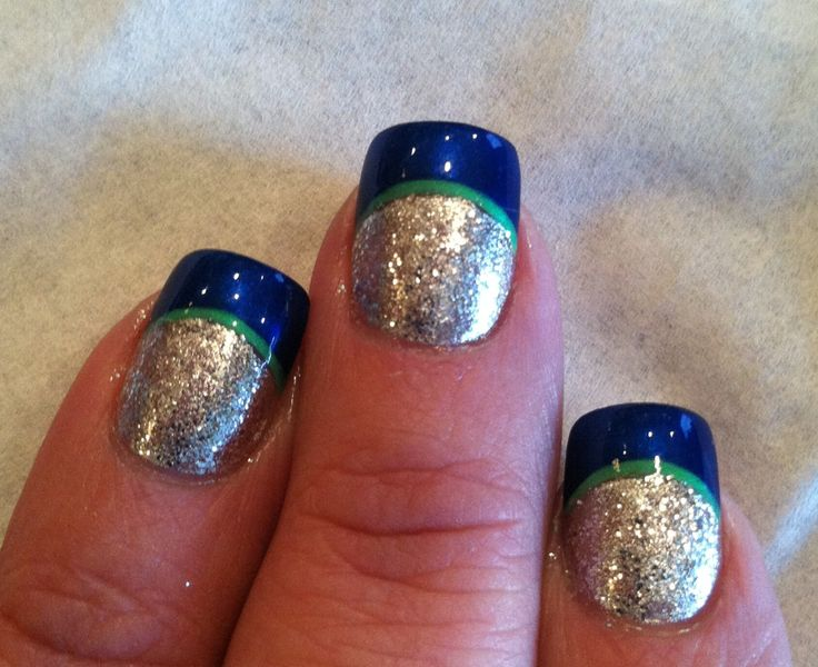 Seattle Seahawk nails!!: Seattle Seahawks Nails Art, Simple Sparkle, Nails Art Ideas, Nails Art Seahawks, Games Nails, Nail Art Ideas, Big Games, Nails Ideas, Simple Seahawks Nails