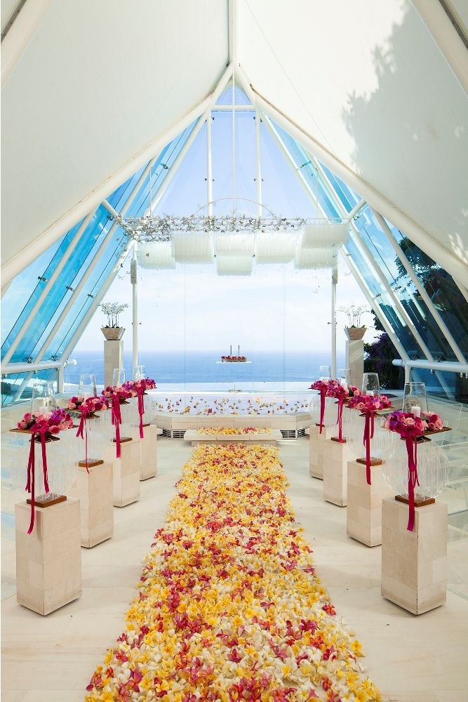 Chapel in Pink by Tirtha Bridal Uluwatu Bali