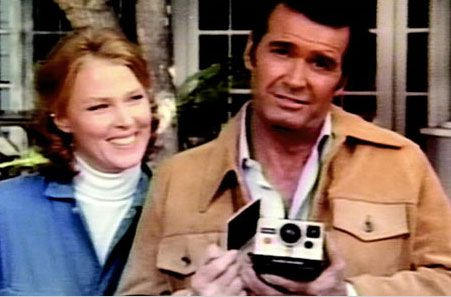 Mariette Hartley and James Garner for Polaroid.  People used to think they were a real-life couple because they seemed so comfortable together.