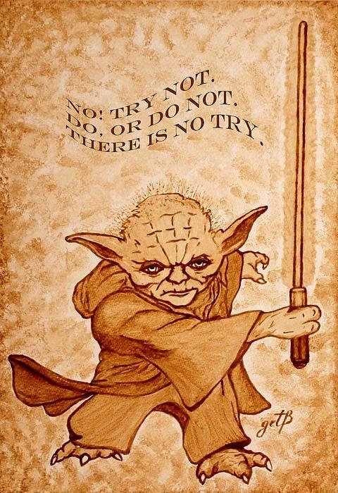 The wise Yoda speaks, giving us his words of wisdom! I added on my original beer painting on paper, a saying of Master Jedi Yoda.#masteryoda #jediyoda #jedi #wordofwisdom
