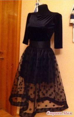 Доброго, всем, времени суток!!!  Шила я платьице из бархата-стрейч и к ней нужна была юбочка из фатина в горошек. Вот что-то подобное мне нужно было сшить.