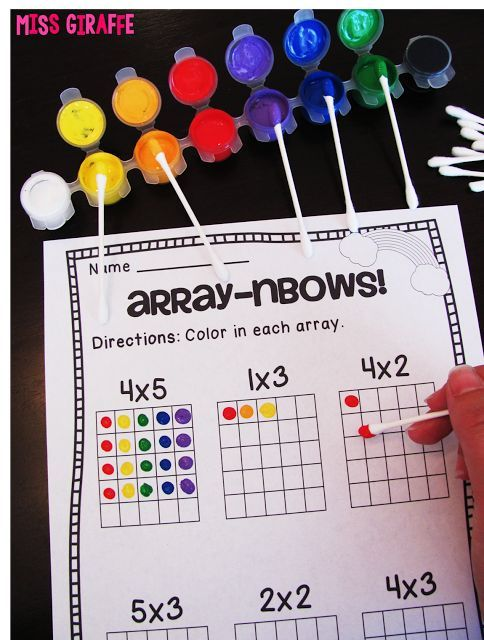 Why is learning multiplication with arrays helpful? Learn more and get tons of ideas to make it hands on and fun for your students!