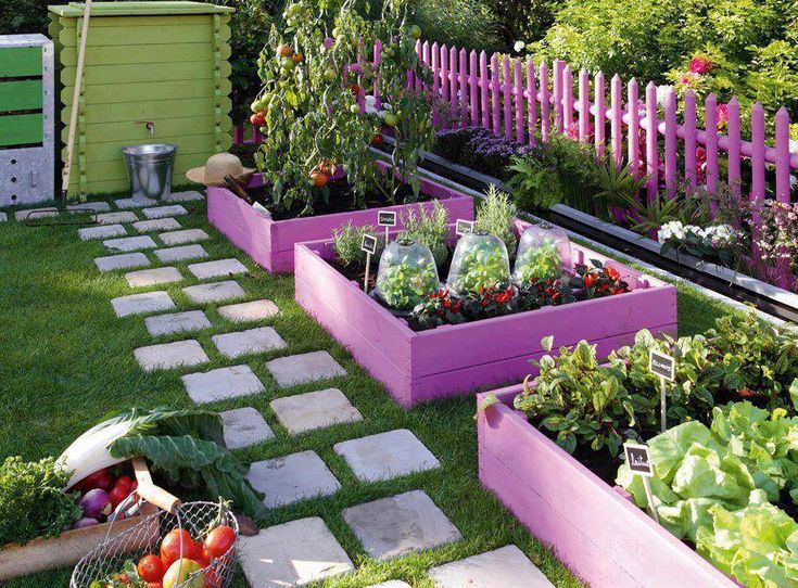 great way to keep veggies neat, tidy and the rest of the garden separate :)