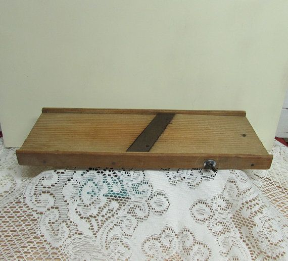 Primitive Wooden Cabbage Slicer or Kraut Cutter by BusyOnBlackwood, $17.00