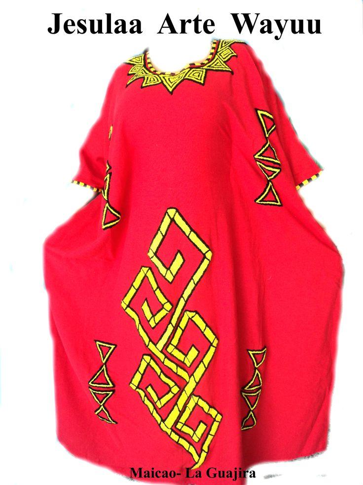 Manta Wayuu o Wayuushein vestido tradicional de la mujer wayuu
