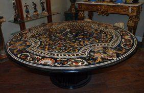 Round Francesco Ligozzi Pietra Dura Mosaic Table