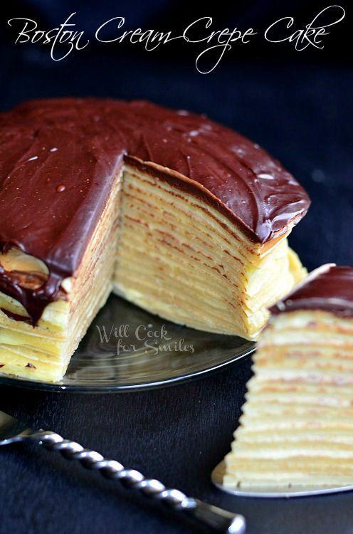 Boston Cream Crepe Cake - Will Cook For Smiles