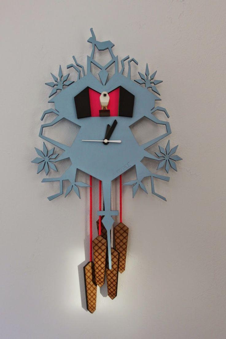 LA THEORIE DE L'ARTICHAUT: Horloges inspiration coucou Suisse