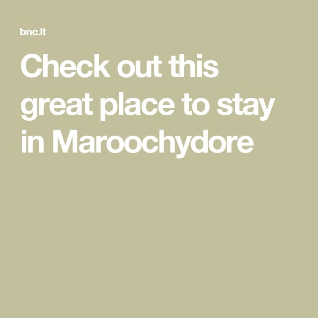 Check out this great place to stay in Maroochydore