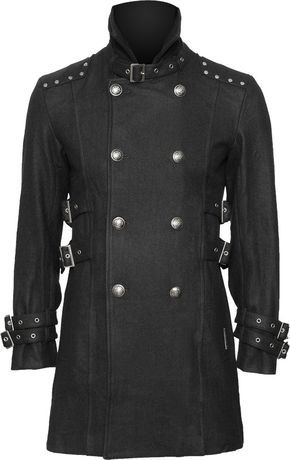 Gothic car coat for men by Queen of Darkness clothing