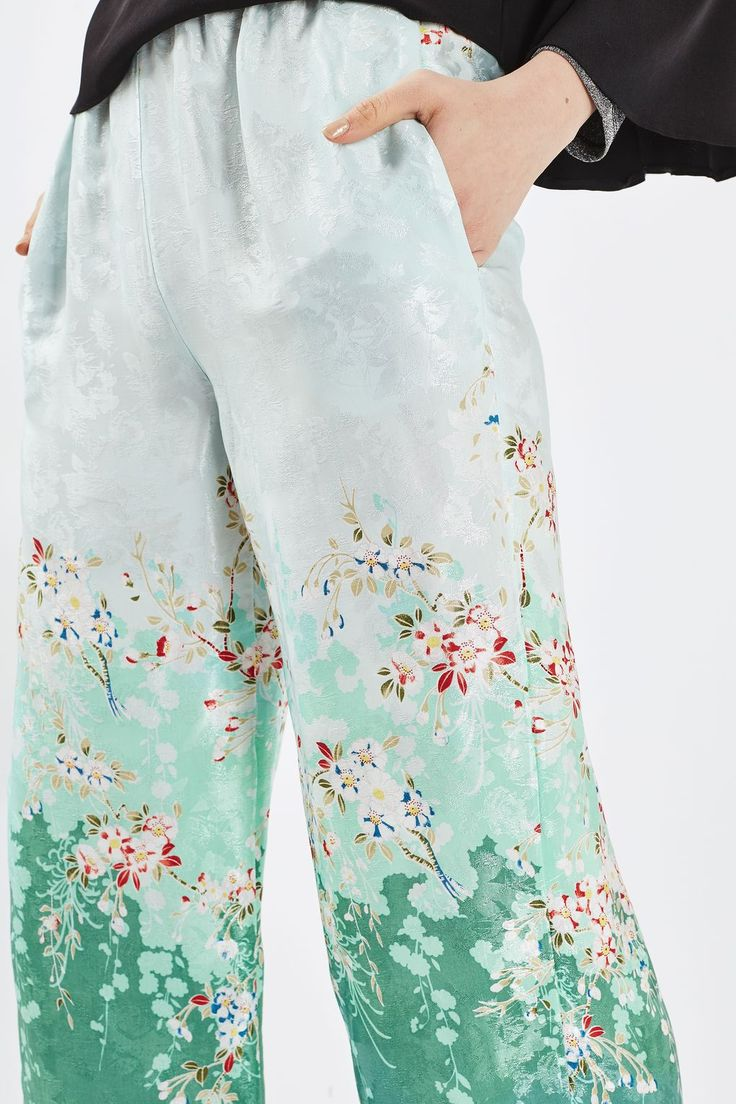 Blossom Print Trousers - New In- Topshop Europe