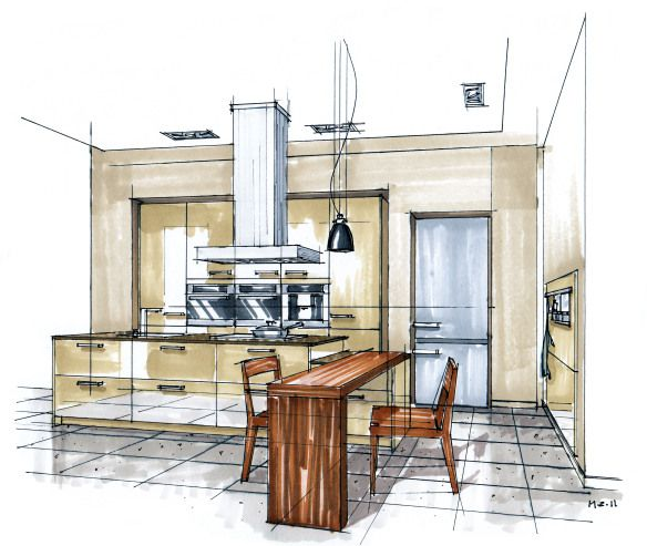 1000+ Images About Interior Sketches On Pinterest