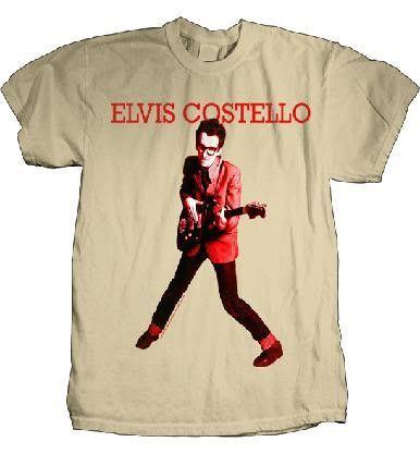 Elvis Costello 'My Aim Is True' Light Brown T-Shirt (Large)