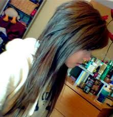 long hair short layers, also known as the modern mullet. *im trying to avoid this*