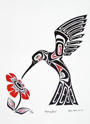 Hummingbird - Native Artwork - Chelleen Houle                                                                                                                                                                                 Más