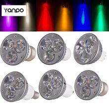 US $1.85 High Quality Non-Dimmable LED Spotlight GU10/B22/E27/E14/E12/B15/GU5.3 Down Lights 6W Bulbs DC 12V 8 Colorful Led Lampada 1PCS. Aliexpress product