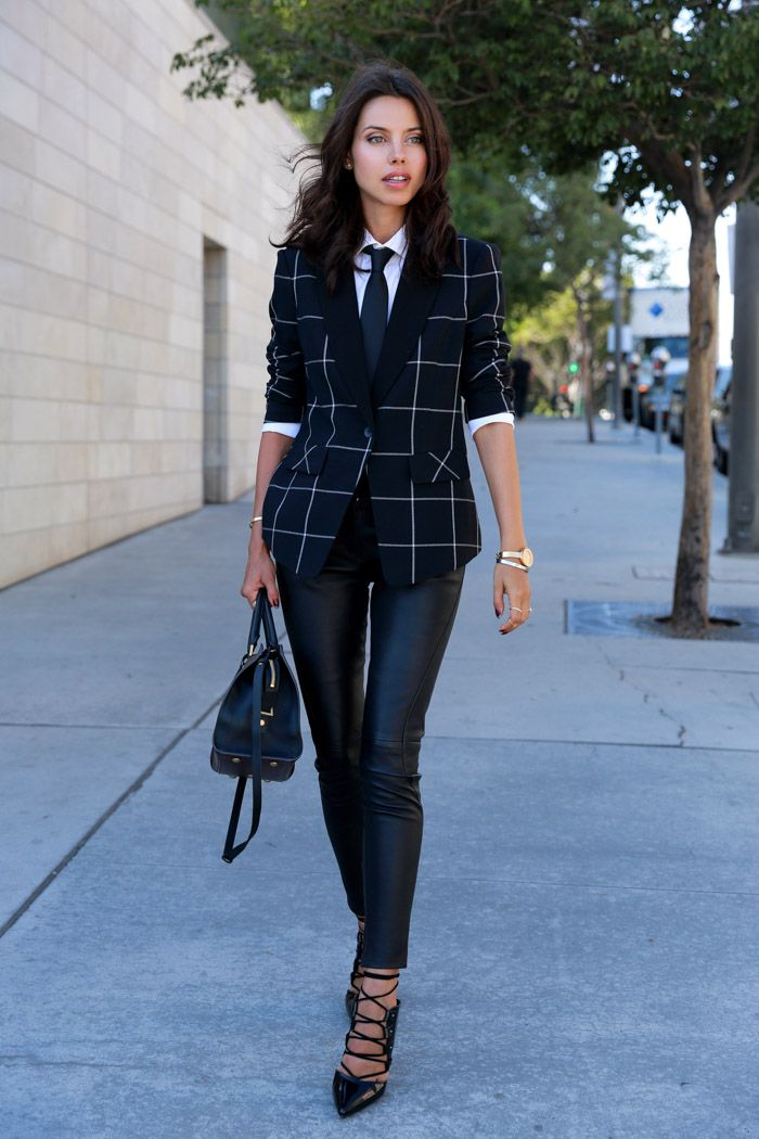 Plaid isn't just for the prepsters. Opt for a window pane plaid for an edgier, menswear inspired look.