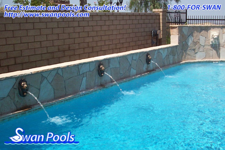 39 best images about swan pools sheer descents rip rap for Pool design estimator