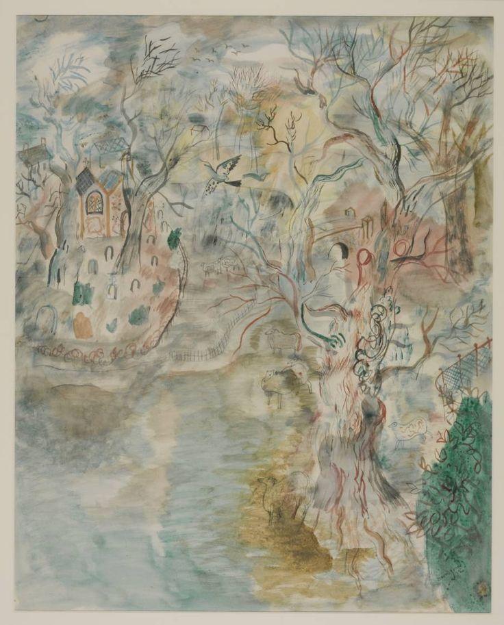 David Jones 1895–1974 Title The Chapel in the Park Date 1932 Medium Watercolour on paper