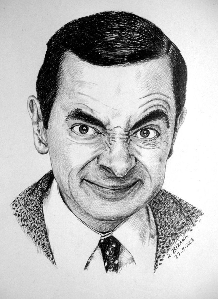 Mr Bean By Robertobizama Cizim Gercekci Cizimler Sanatcilar