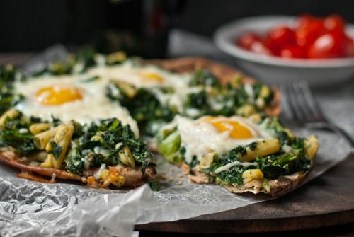 Super breakfast idea for using with home-made pizza dough. This recipe is not from a Thermomix site, but you can get the #recipe for pizza dough on SuperKitchenMachine.com and add your own breakfasty ideas ;-)