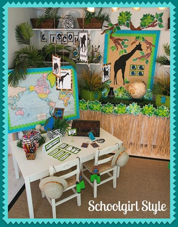 Classroom Decor Animals ~ Images about themes for teachers at my school on