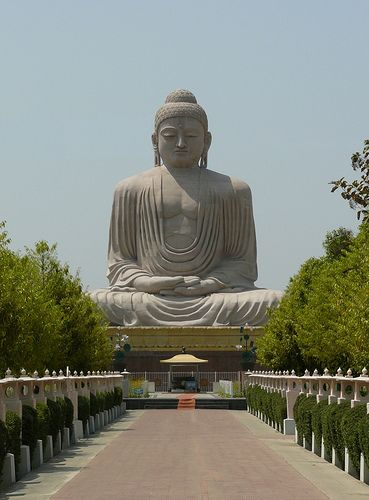 Giant Buddha statue in BodhGaya, India - The place where Gautama Buddha Attainment Enlightenment, by jocelyn.aubert, via Flickr