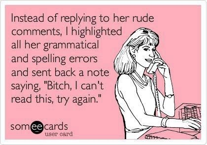 I <3 grammar nazis. :)