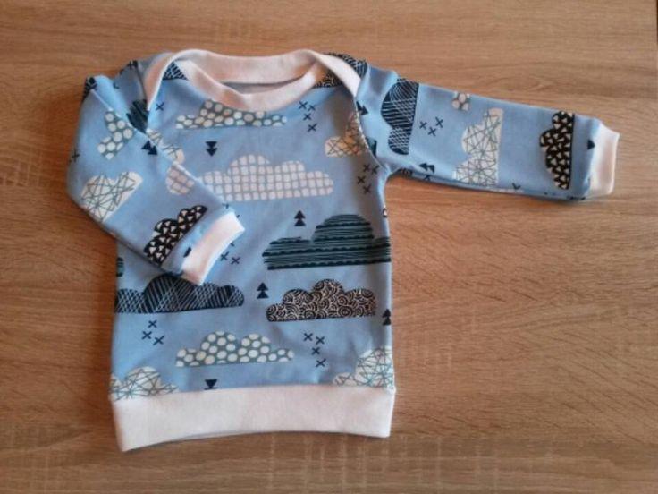 Langarmshirts - Basic Shirt mit Schlupfkragen Gr. 50- 92 - ein Designerstück von Minimi-and-I bei DaWanda