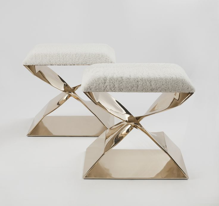 Luxe Fur Stool