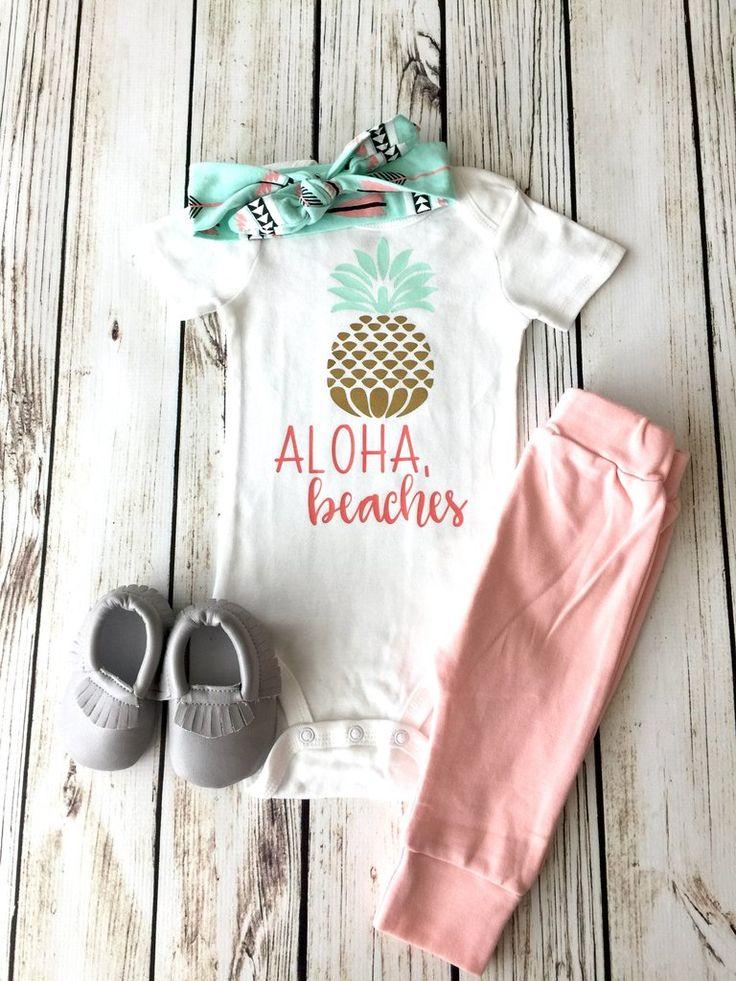 Aloha, Beaches Baby Girl Onesie