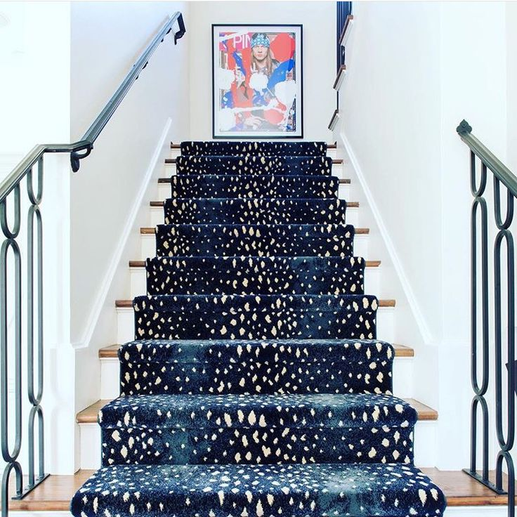 Fun and sophisticated staircase runner