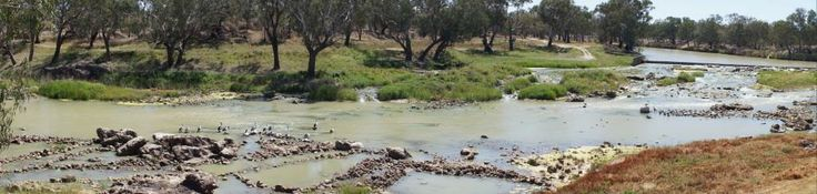 Ancient Aboriginal fish traps, Barwon River Brewarrina, New South Wales, Australia, one of the oldest human made structures in the world.