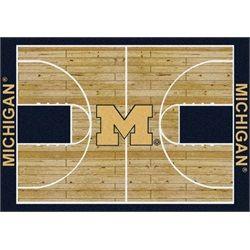 Michigan Wolverines Basketball Court Rug