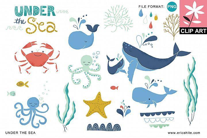 Under The Sea Clip Art Png 2970 Illustrations Design Bundles Clip Art Vector Art Under The Sea