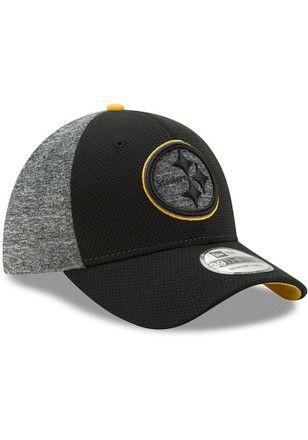 New Era Pittsburgh Steelers Mens Black Fierce Fill Flex Hat