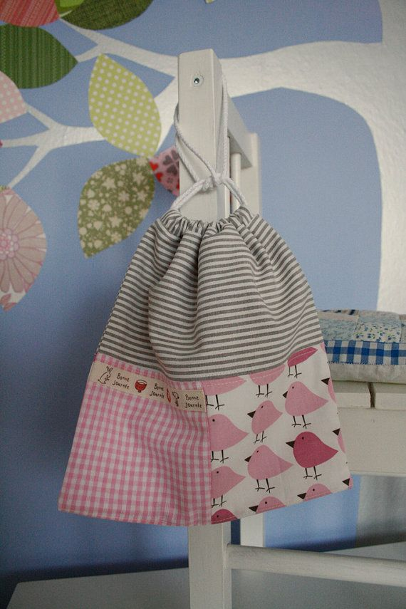 flannel lined drawstring bag.