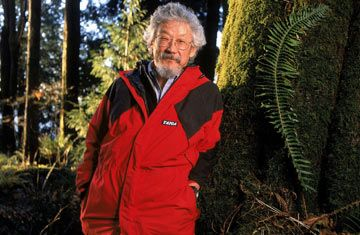 David Suzuki - Canadian academic, science broadcaster and environmental activist. He is best known as host of the popular and long-running CBC Television science magazine, The Nature of Things, seen in over forty nations. He is also well known for criticizing governments for their lack of action to protect the environment.