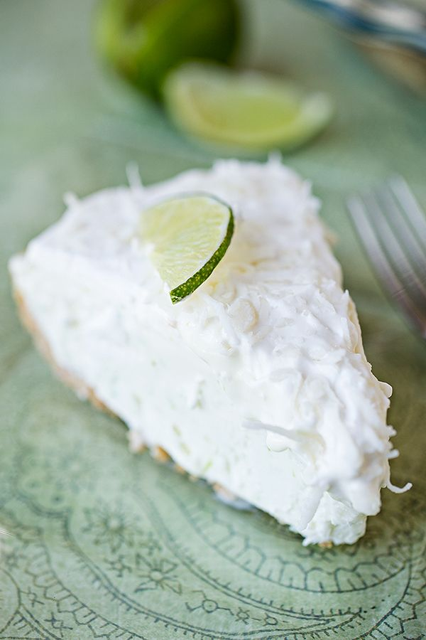 "Coconut-Lime ""Island-Breeze"" Icebox Pie with Spiced Rum Whipped Cream"