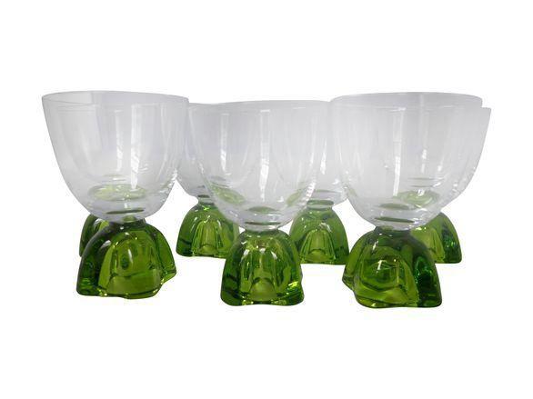Midcentury Wine Glasses - Set of 7 on Chairish.com
