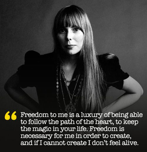 Emo Quotes About Suicide: Joni Mitchell On Freedom And Creativity