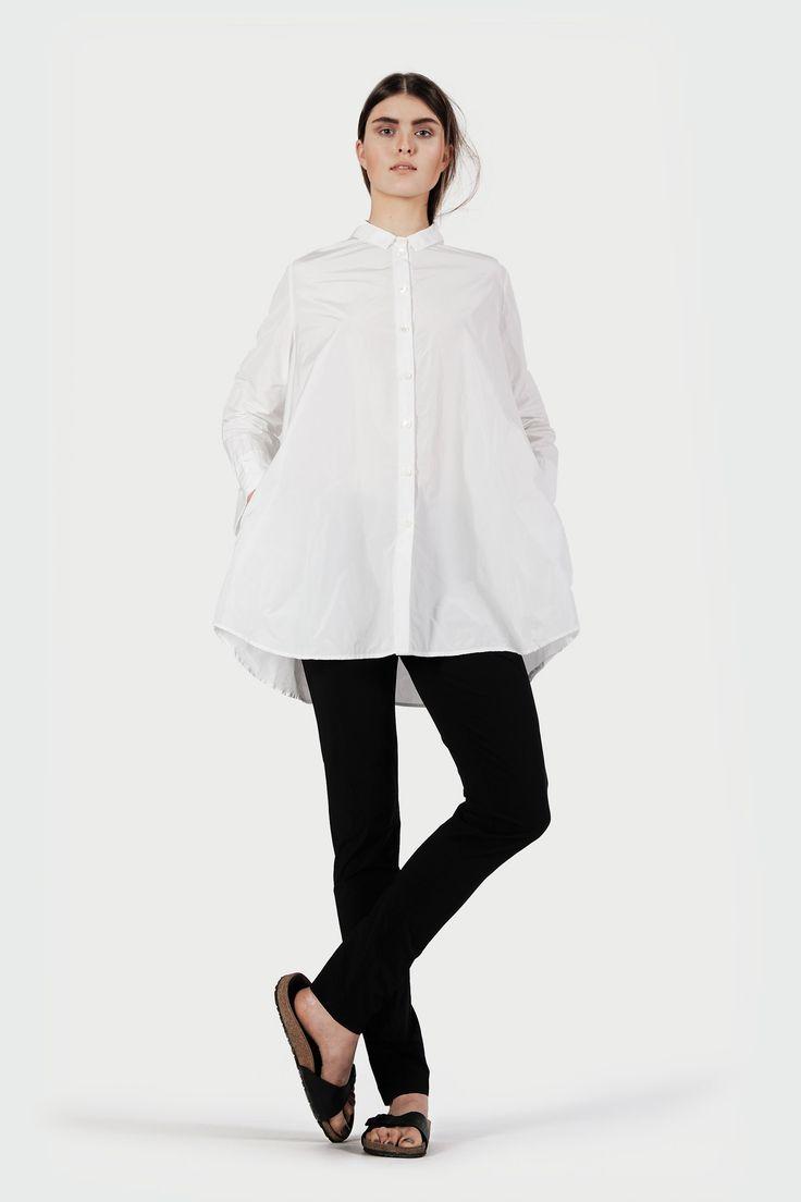 Oversize Bluse Weiß