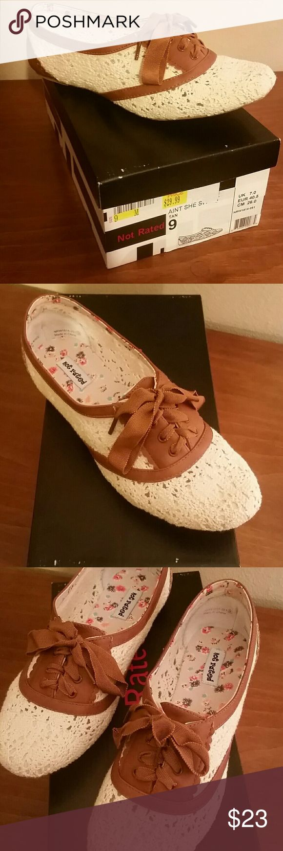 Not Rated Lace Shoe Brand New. Never Worn. Off White/Brown Lace Shoe. Perfect condition. Not Rated Shoes Moccasins