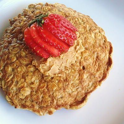 A quick and easy breakfast that will fill you up all morning long!  Multiply the ingredients based on how many pancakes you want to make. Ingredients listed make 1 pancake.