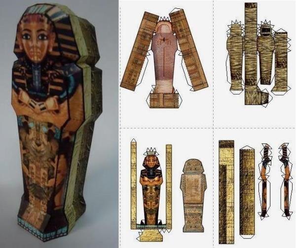 Mummy`s Sarcophagus Paper Model