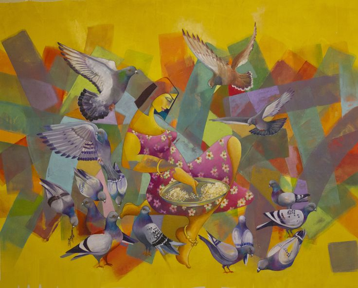 """""""فختايه بين الفخاتي"""" Oil on Canvas 54x43 In 2017 Artist Firas Albasry"""