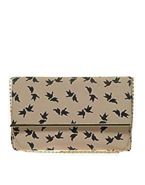 bird print clutch | asos