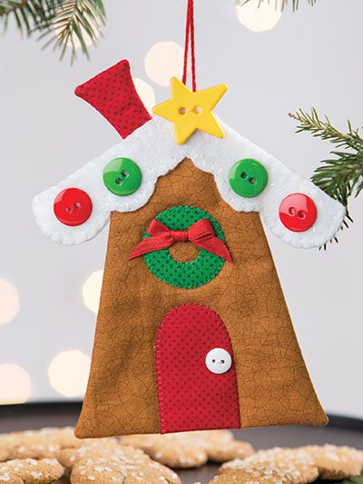 I'll Be Home for Christmas Gingerbread House Ornament Pattern - I'll Be Home For Christmas Gingerbread House Ornament Pattern