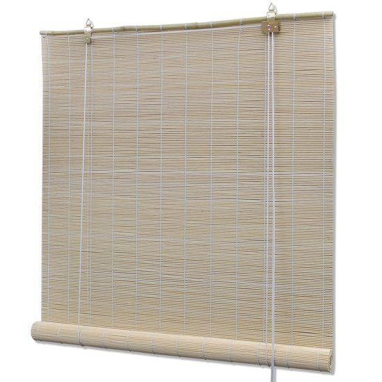 Rolgordijn Bamboe 100 x 160 cm (Naturel)